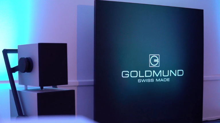 Goldmund Satya, luxury wireless speakers, stereo speakers