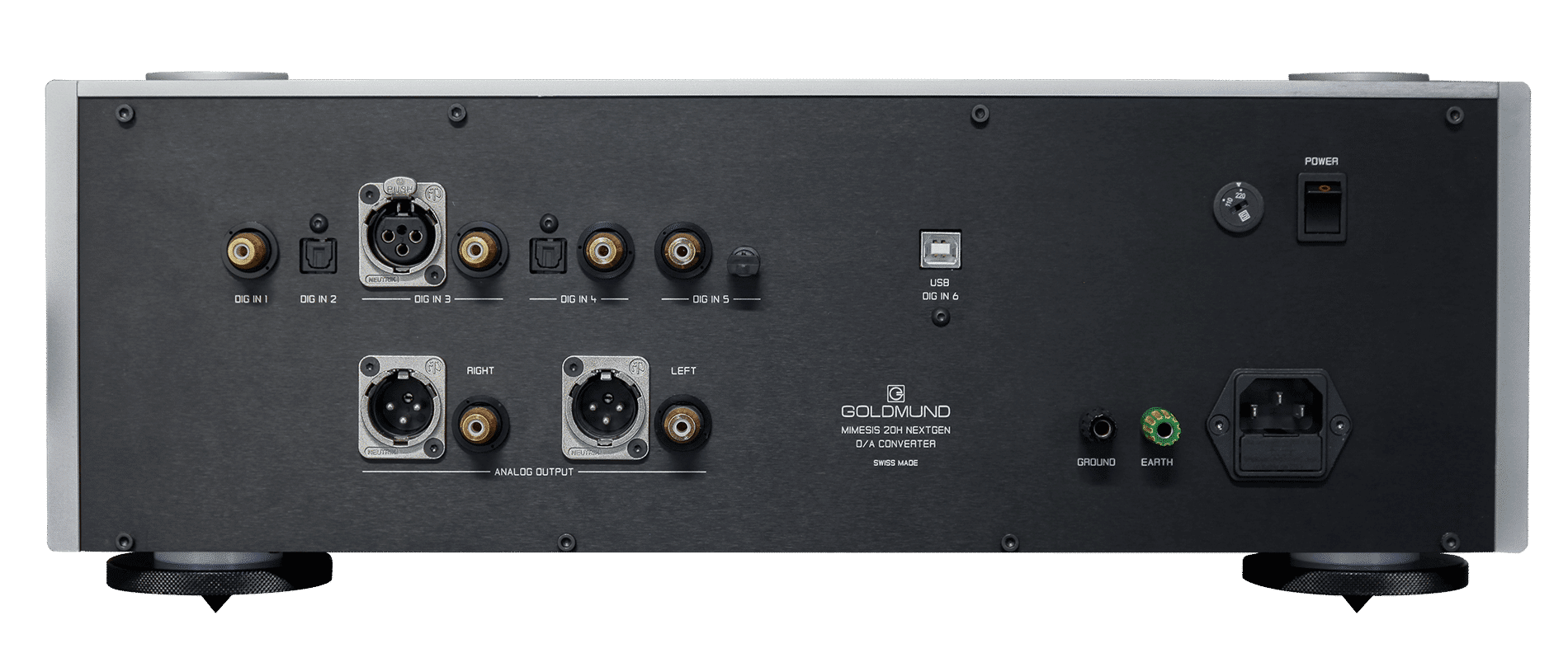 Mimesis 20H nextgen digital to analog converter rear connections