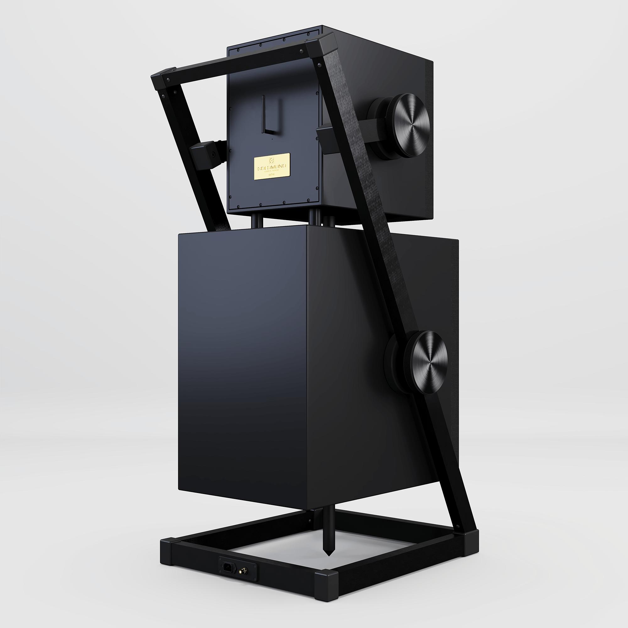 Satya black wireless speakers